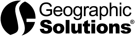 Black and White Logo for Geographic Solutions