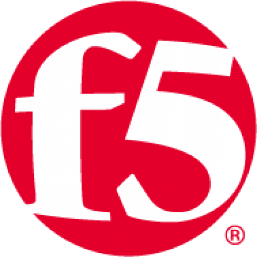 Red circle logo with F5 in white lettering